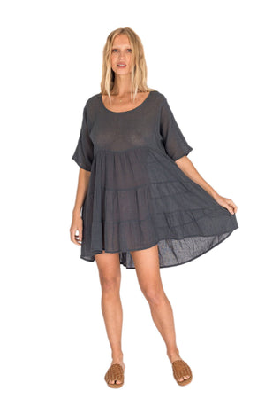 Delilah Dress - Charcoal