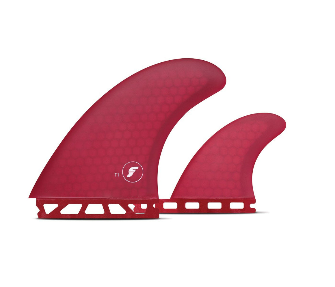 FUTURES FINS T1 HONEYCOMB TWIN FINS - RED
