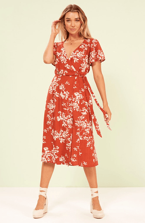 Desert Bloom Midi Dress