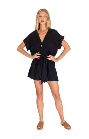 Ollie Playsuit Black