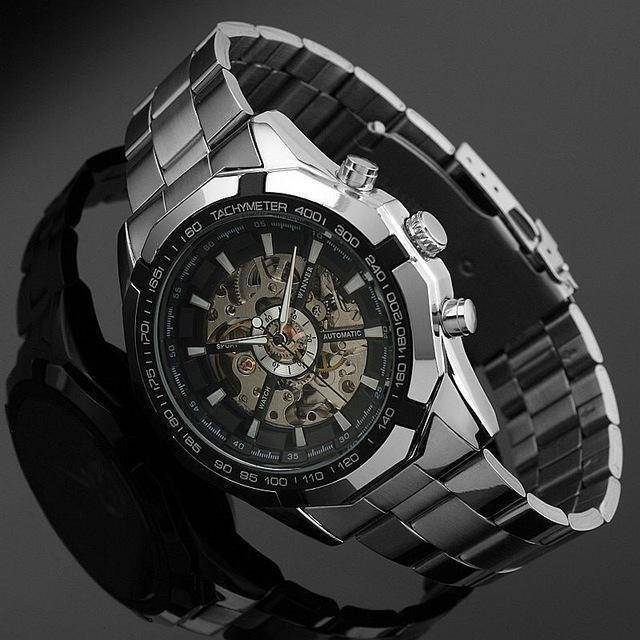 2016 Mens Watches top brand luxury Winner Fashion Skeleton Clock Men Sport Watch Automatic Mechanical Watches Relogio Masculino - Venturi.Store