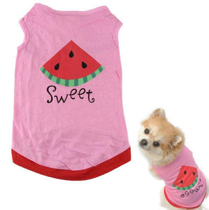 Summer cheap pet clothes dogs  For Cute Small Pet Dog Puppy With Watermelon Printed Pink Vest - Venturi.Store