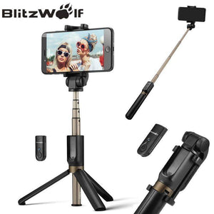 BlitzWolf 4 in 1 Camera Tripod Bluetooth Selfie Stick Wireless Monopod - Configured for Smartphones - Venturi.Store