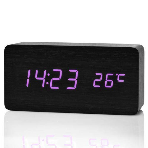 FiBiSonic Upgrade LED Alarm Clocks,Despertador Temperature Sounds Control LED Display Desktop Digital Table Clocks - Venturi.Store
