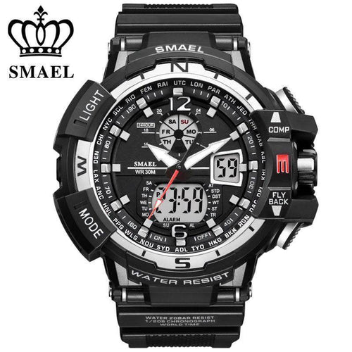 SMAEL Brand Sports Watch Men New Waterproof Fashion Military Clock Shock Men's Luxury Analog Quartz Dual Display Wrist watches - Venturi.Store