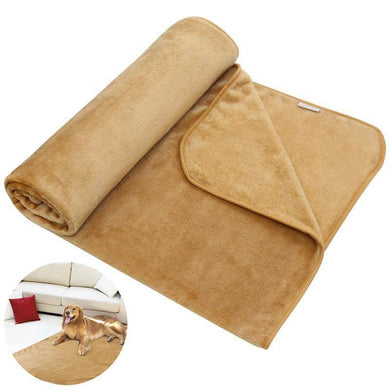 UEETEK Pet Blanket Luxury Wraps Fabric Carpet Warm Bed Cover for Small/Medium/Large Dogs 140CM x 90CM (Khaki) - Venturi.Store