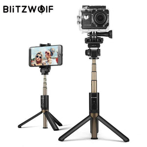 BlitzWolf 4 in 1 Camera Tripod Bluetooth Selfie Stick Wireless Monopod - Venturi.Store