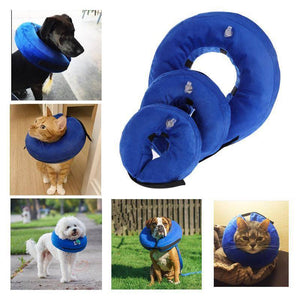 Inflatable Pet Cat Dog Collar Neck Protective Wound Healing Collar - Venturi.Store