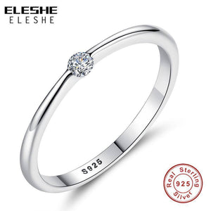 Ring Zirconia Authentic 925 Sterling Silver Finger Rings for Women - Venturi.Store
