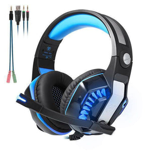 Beexcellent GM-2 Over-Ear Stereo Gaming Headset 2.1m Cable LED Light Super Heavy Bass Headphones With Mic For Computer Game - Venturi.Store