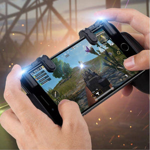 Hand Grip Mobile Gaming for Smart Phone with Trigger R1 L1 Game Fire Aim Key