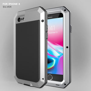 Heavy Duty Protection Armor Metal Aluminum Phone Case for iPhone 6 6S 7 8 Plus X 4 4S 5S SE 5C