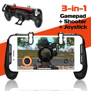 Fortnite / PUBG Mobile 3 in 1 Controller Smartphone Gamepad Joystick For Android IOS