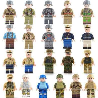 Military Soldier Action Figures With Weapons WW2 Compatible with Major Brands