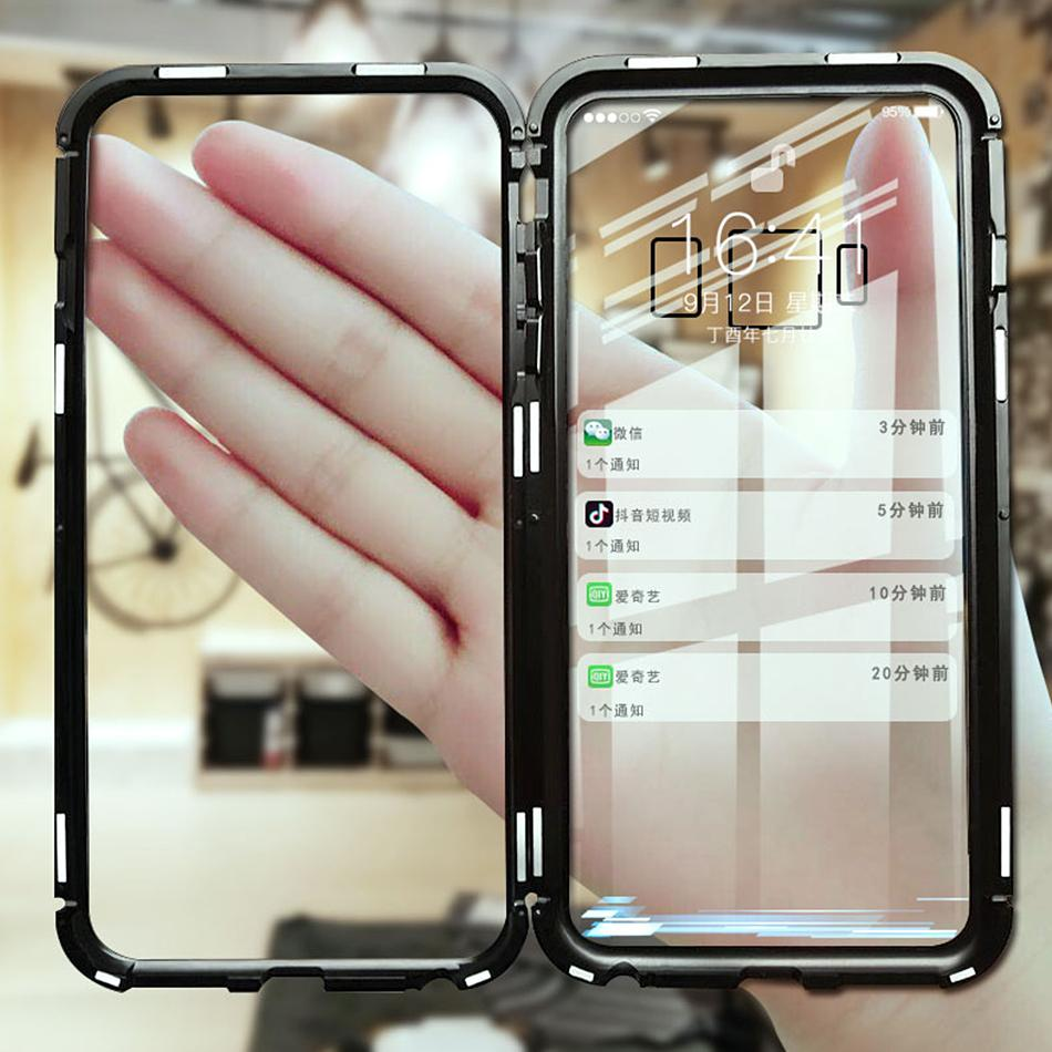 wholesale dealer 9bde3 10184 Luxury Magnetic Adsorption Metal Case for iPhone / Samsung