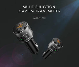 Hands-Free Wireless Bluetooth FM Transmitter Car Kit