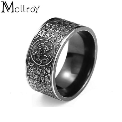 Viking / Dragon Symbol style ring. Male or Female