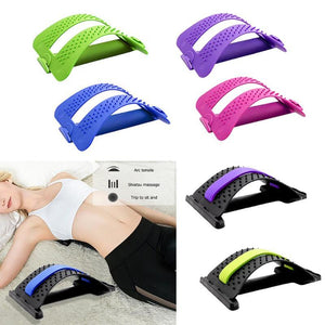 Back Stretch Equipment Massager  Stretcher Fitness Lumbar Support Relaxation