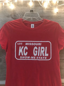 Red KC Girl Tee