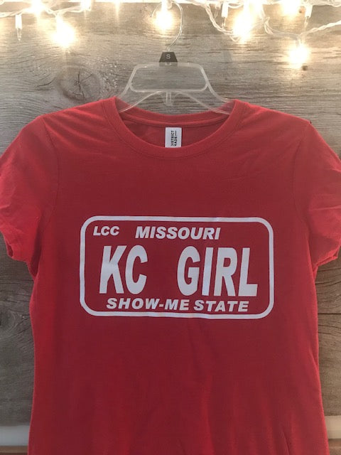Red Show Me State KC Girl Tee