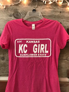 Pink Kansas KC Girl Tee