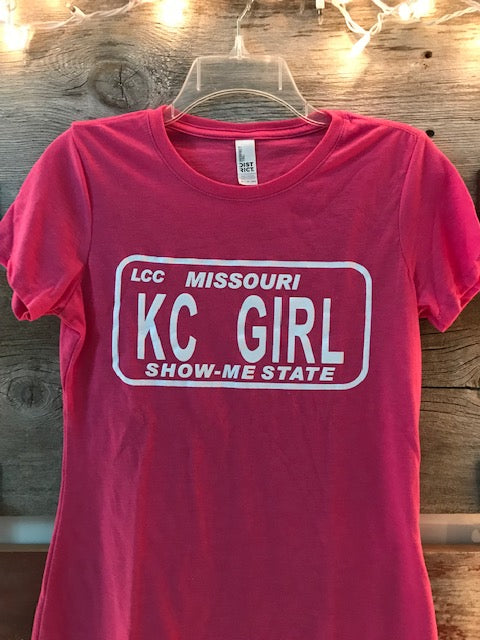 Pink Show Me State KC Girl Tee