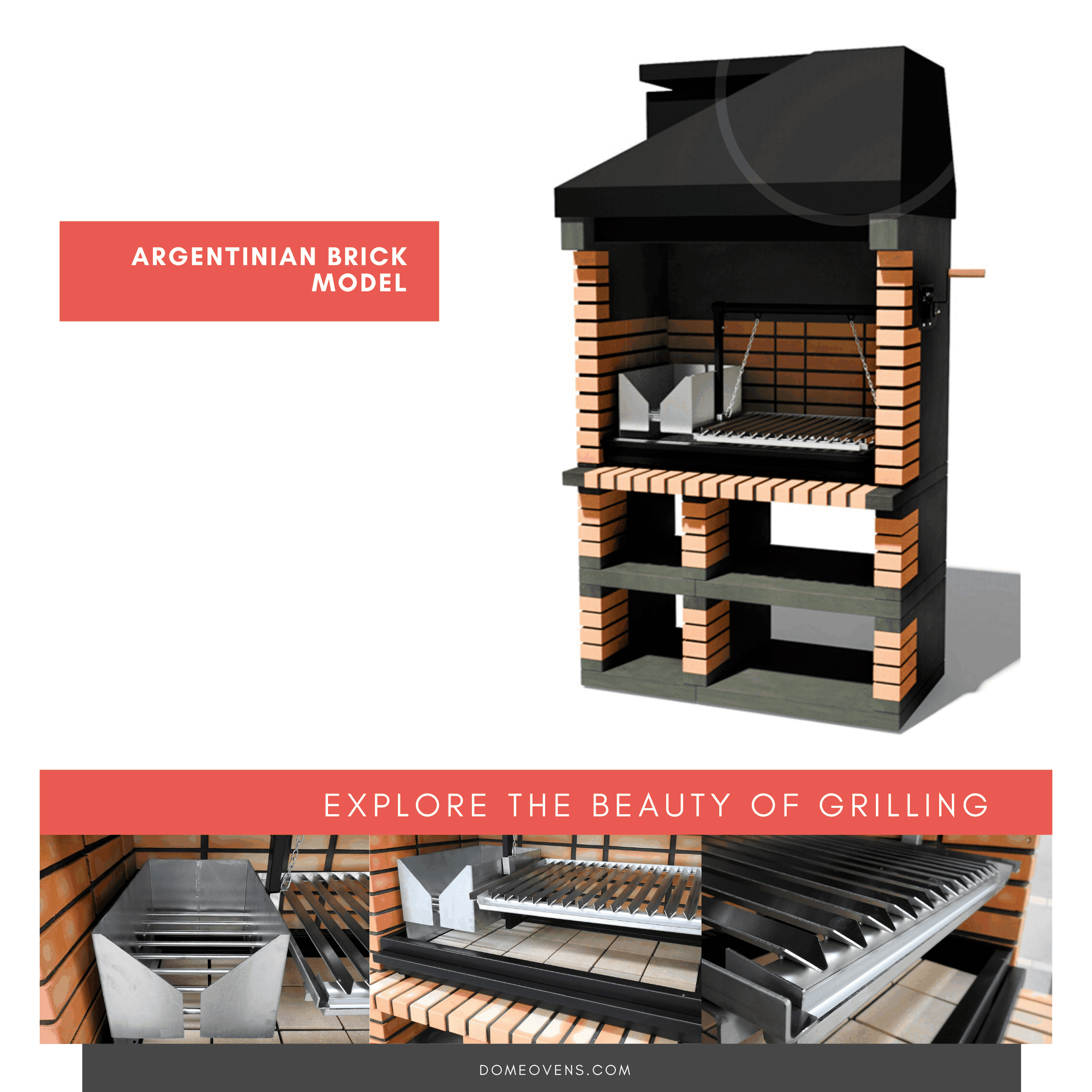 Argentinian Brick  Grill -  Available December 2020 - Dome Ovens®