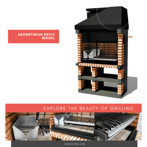 Argentinian Brick  Grill -  Available November 2020 - Dome Ovens®