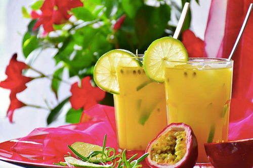 Passion Fruit Caipirinhas