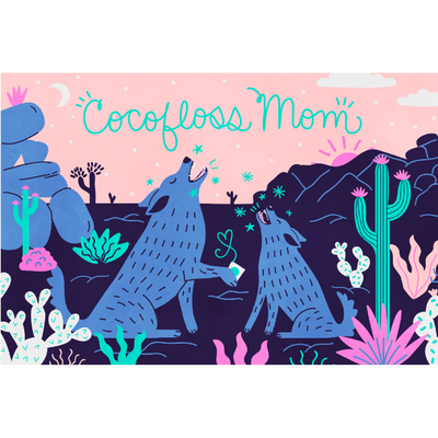 Cocofloss Mom Greeting Card