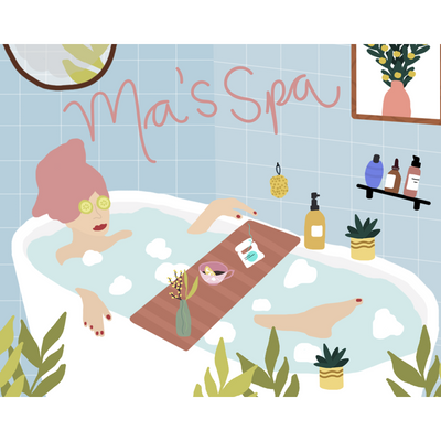 Ma's Spa Greeting Card