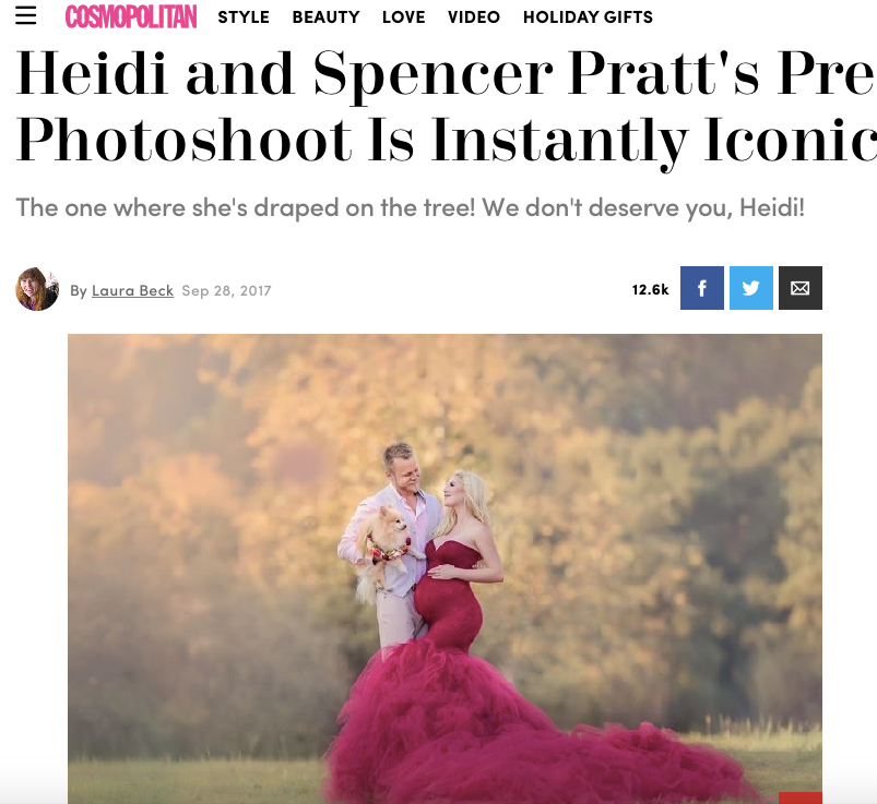 Heidi and Spencer Pratt looking at each other during the photoshoot