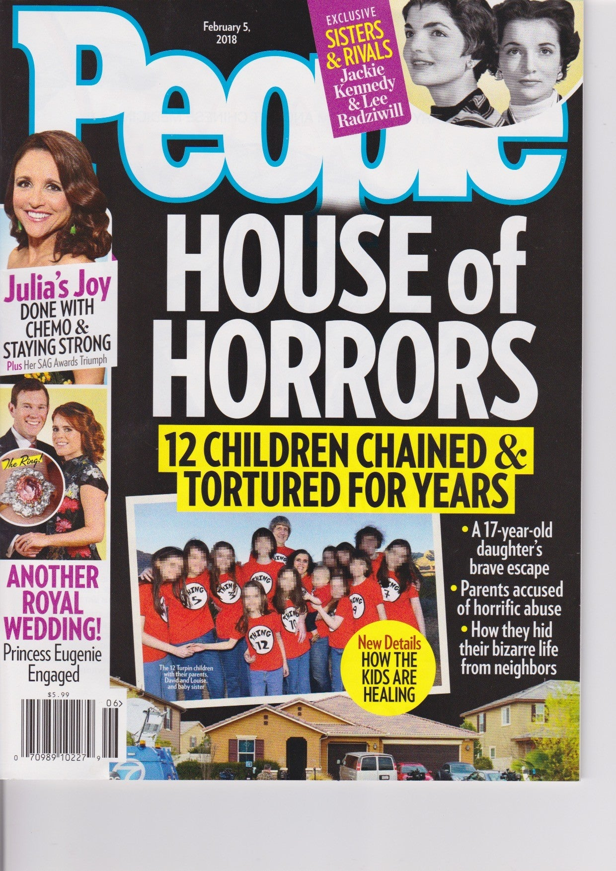 People magazine cover - house of horrors title