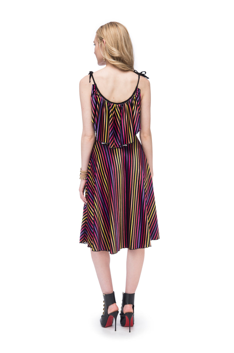 Retro Valentina Stripe Maxi Dress