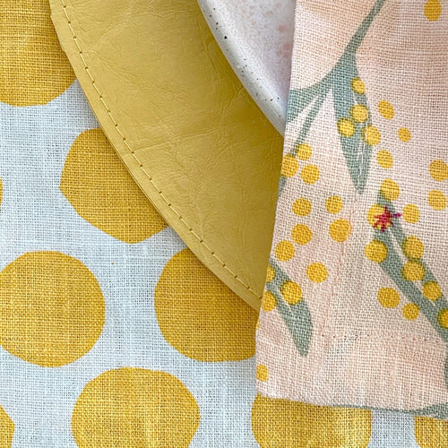 I'm not Perfect - Yellow Polka Dot Table Runner