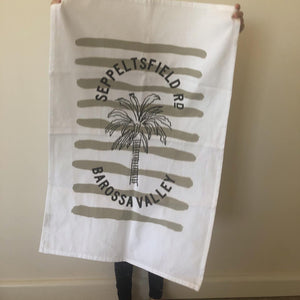 Seppeltsfield Road Tea Towel - WHITE