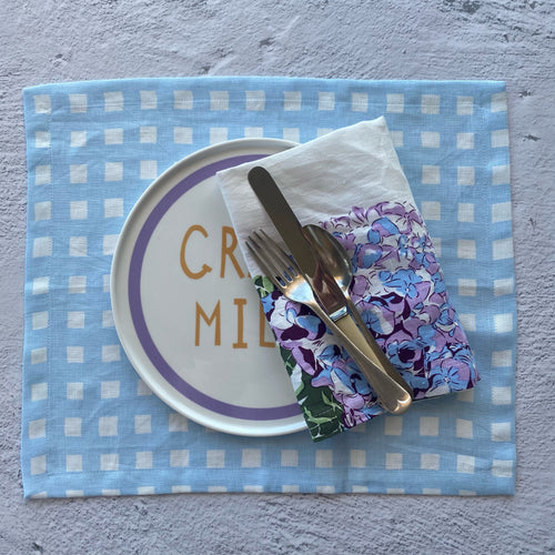 Chambray Gingham Placemats - SET OF FOUR