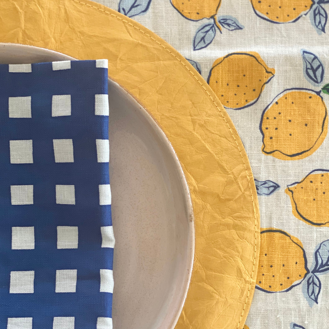 NAVY Lemon Table Runner