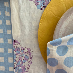 Gingham in Chambray Tablecloth