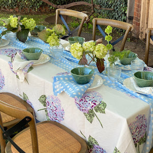 Hydrangea Flower Tablecloth