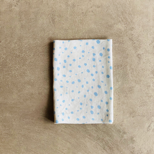Pebble Print in Chambray Blue Napkin - SET OF FOUR