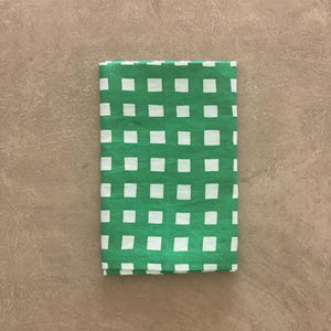 I'm not Perfect - Green Gingham Napkin - SET OF FOUR