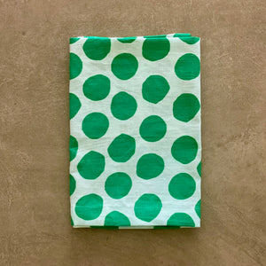 I'm not Perfect - Green Polka Dot Napkin - SET OF FOUR