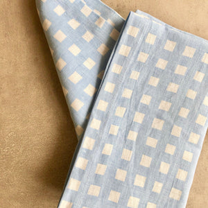 Gingham in Chambray Runner
