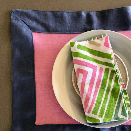Paper Daisy Pink Placemat - SET OF FOUR