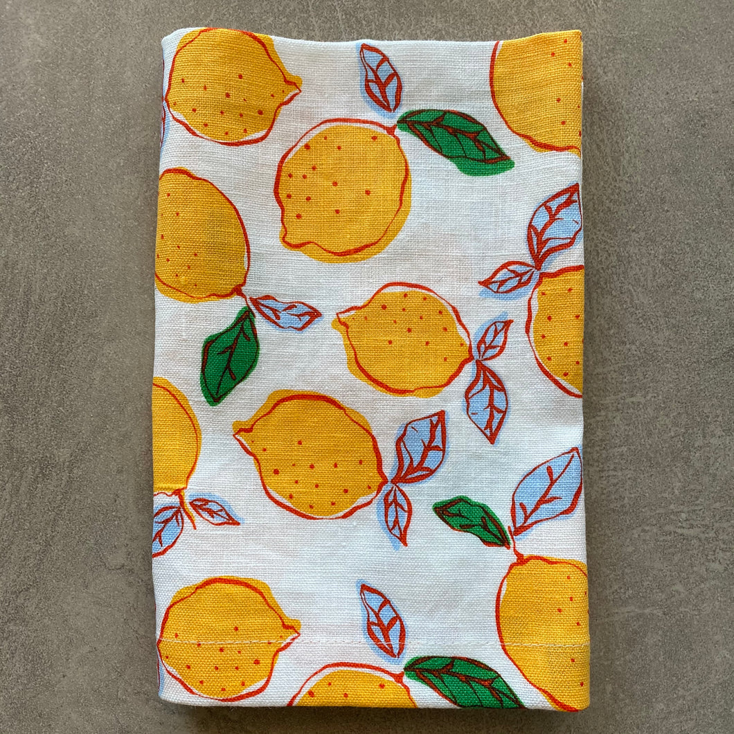 Limited Release Red Lemon Napkin -  SET OF FOUR