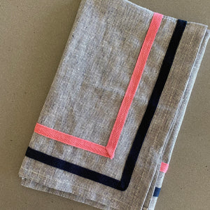 Limited Edition Grey Stripe Napkin - SET OF FOUR