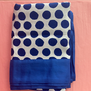 I'm not Perfect - Navy Polka Dot Tablecloth
