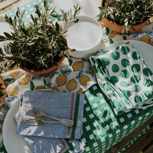 Gingham in Green Tablecloth