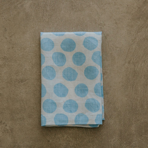 Polka Dot in Chambray Napkin - SET OF FOUR